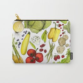 Vegetable Mandala Carry-All Pouch