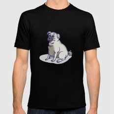 Pugs in a Rug MEDIUM Black Mens Fitted Tee