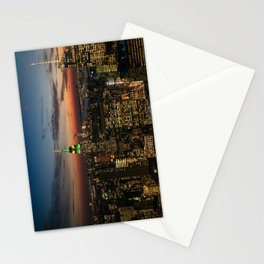 Top of the Rock view, New York, NYC Stationery Cards