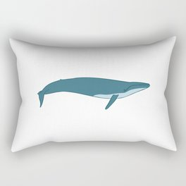 Big blue whale Rectangular Pillow