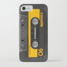 Yellow Cassette iPhone Case