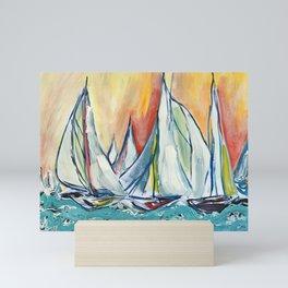 """sailboats #1"" Mini Art Print"