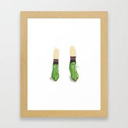 Green Booties Framed Art Print