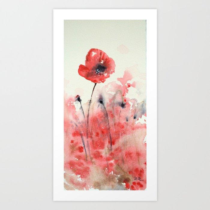 Let's dance poppy Art Print