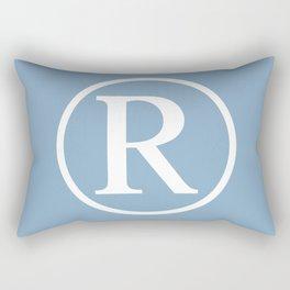 Registered Trademark Sign on placid blue background Rectangular Pillow