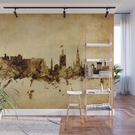 Edinburgh Scotland Skyline Wall Mural