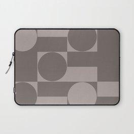 Taupe Nuetural Minimal Geometric Laptop Sleeve