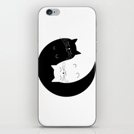 Ying yang cats iPhone Skin
