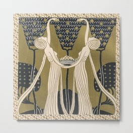 Art Nouveau Women Metal Print