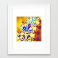 fireworks Framed Art Prints featuring Fireworks by LLMD
