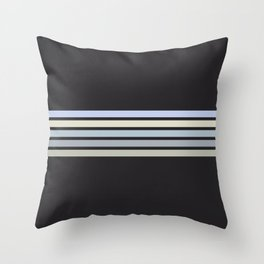 Colorful Stripes Black VI Throw Pillow