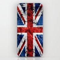 british flag iPhone & iPod Skins featuring British Flag by TOJO Art