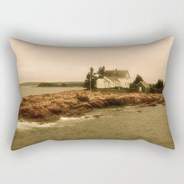 The Lighthouse's Tale -  Along the Rocky Coast of Maine Rectangular Pillow