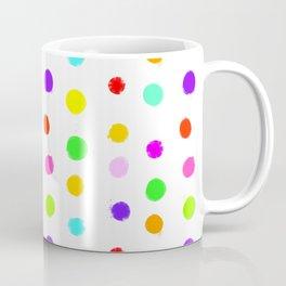 Multicolored Spots on White Coffee Mug