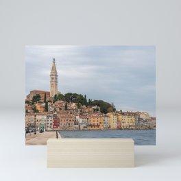 Pretty Seaside Town Rovinj Croatia Waterfront Mini Art Print