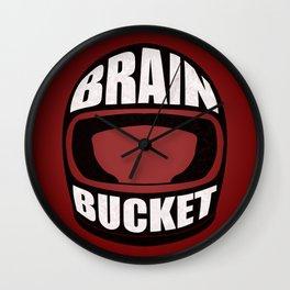 Brain bucket Wall Clock