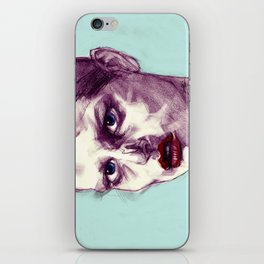 Scary Dirty Face with Red Lips iPhone Skin