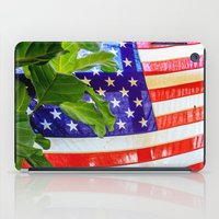 flag iPad Cases featuring Flag by Jodi Kassowitz Photography