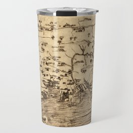 Map of New England by William Hubbard (1677) Travel Mug