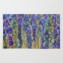 Wisteria Abstract Painting, Colorful Wall Art, Floral Home Decor Rug