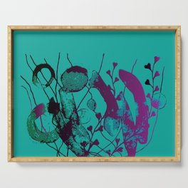 turquoise underwater Serving Tray