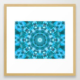 Blue mandala of the stones Framed Art Print