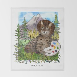 Bobcat Ross Throw Blanket