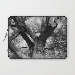 closeup big tree branches in black and white Laptop Sleeve