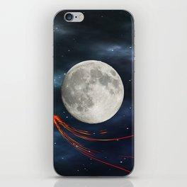 Fire streaks in the universe iPhone Skin