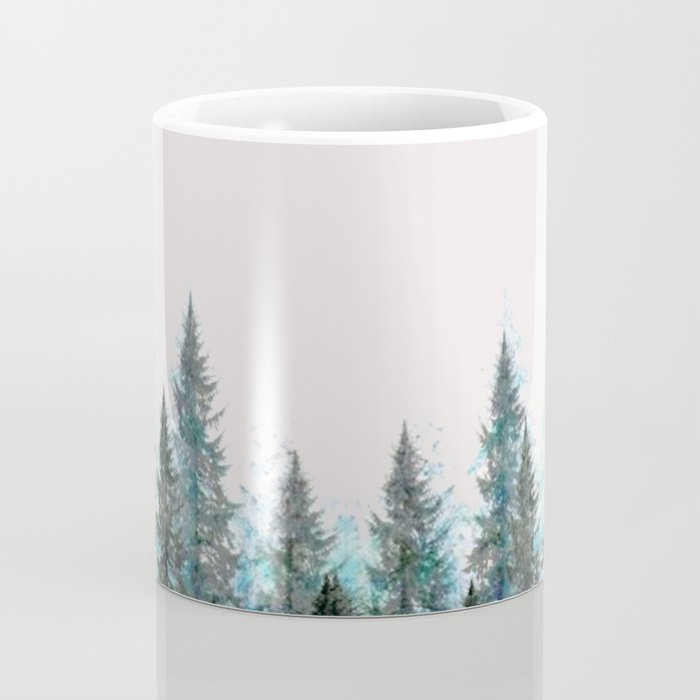 MOUNTAIN FOREST PINES LANDSCAPE  ART Coffee Mug