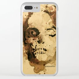 Zombie Marilyn by MrMAHAFFEY Clear iPhone Case