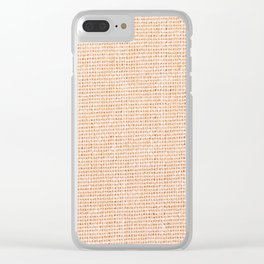 Beige flax cloth texture abstracts Clear iPhone Case