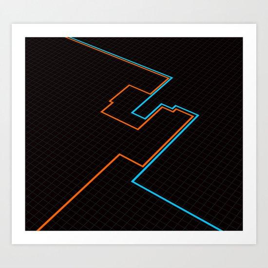 End Of Line. Art Print