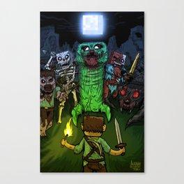 """Bring on the Night"" Minecraft Illustration Canvas Print"