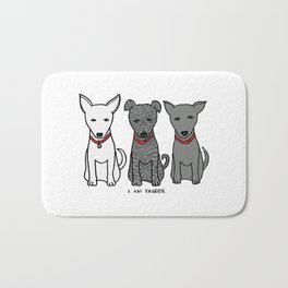 3 Musketeers, I Love Bali Dogs Bath Mat
