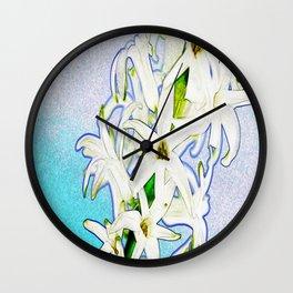 lirios ( lilies ) Wall Clock