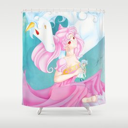Chibiusa and Helios Shower Curtain