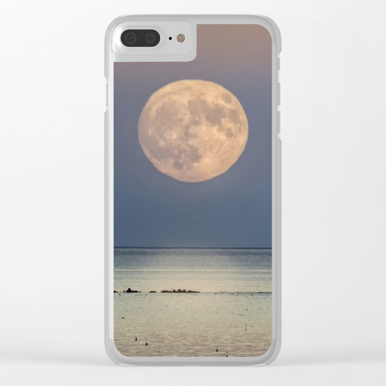 Spring Moonrise Clear iPhone Case