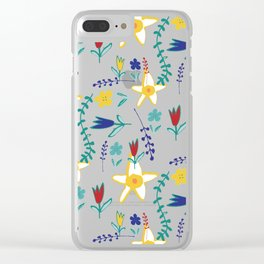 Floral The Tortoise and the Hare is one of Aesop Fables green Clear iPhone Case