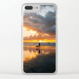 Sunset Beach Runs Clear iPhone Case