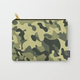 Green Tan Black Camouflage Pattern Texture Background Carry-All Pouch