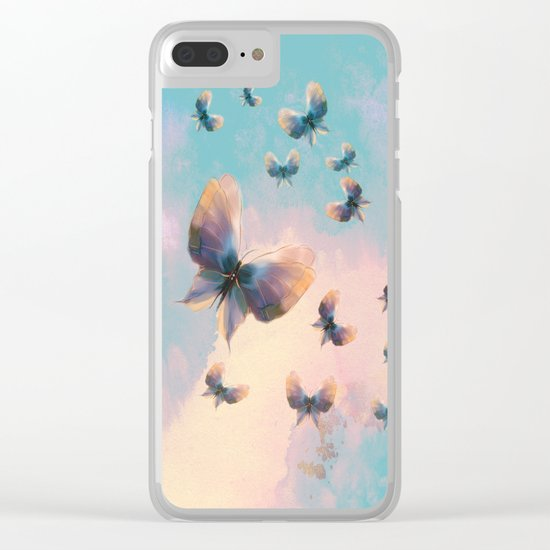 Happiness is a butterfly Clear iPhone Case