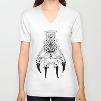 crab V-neck T-shirts featuring Crab Man by Cosmic Nuggets