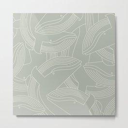 Minimalist Blue Whale Metal Print