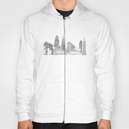 New York City by the Downtown Doodler Hoody