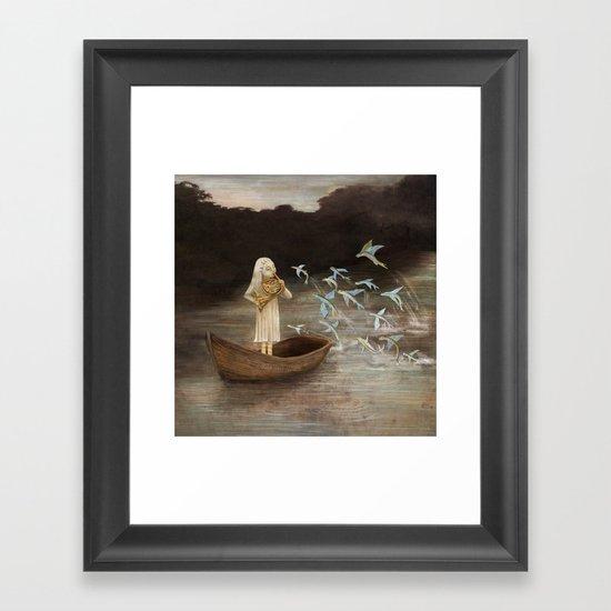 Solo at Dawn Framed Art Print