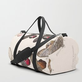 Moths And Butterfly Vintage Scientific Hand Drawn Insect Anatomy Biological Illustration Duffle Bag