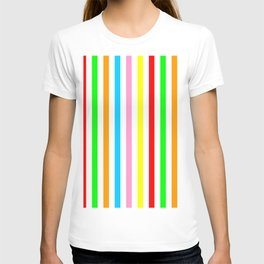 multicolor columns-mutlicolor,abstraction,abstract,fun,line,geometric,geometrical,columns, T-shirt