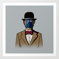 magritte Art Prints featuring Doctor Magritte by le.duc