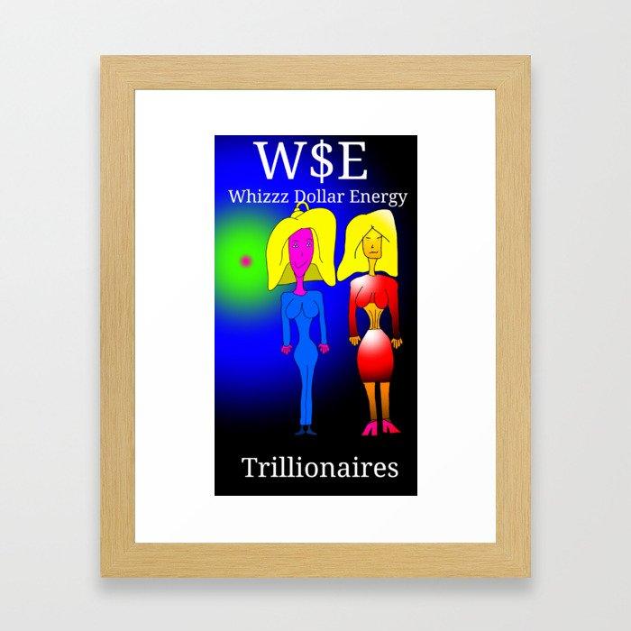 Trillionaires Framed Art Print